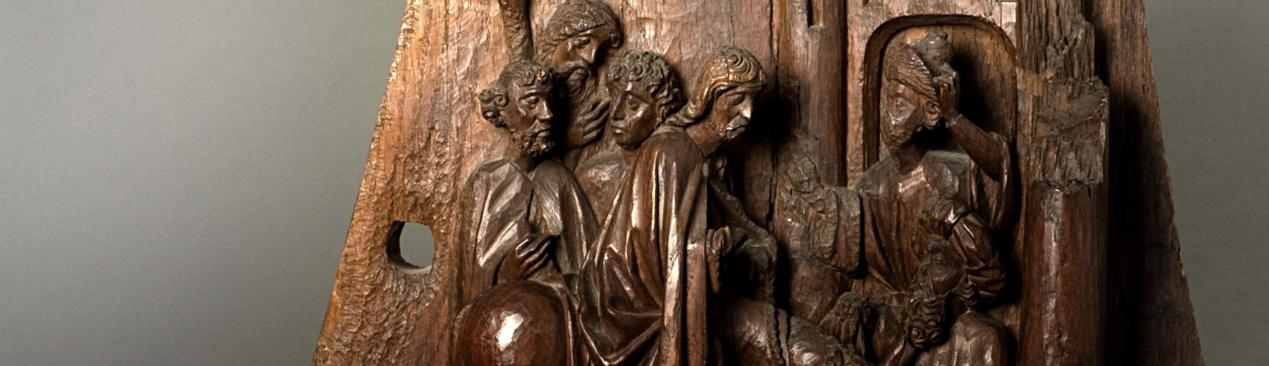 Willem Ards, The entry of Christ in Jerusalem, oak, Leuven, ca. 1448-49 (copyright: M - Museum Leuven | photography: Paul Laes)