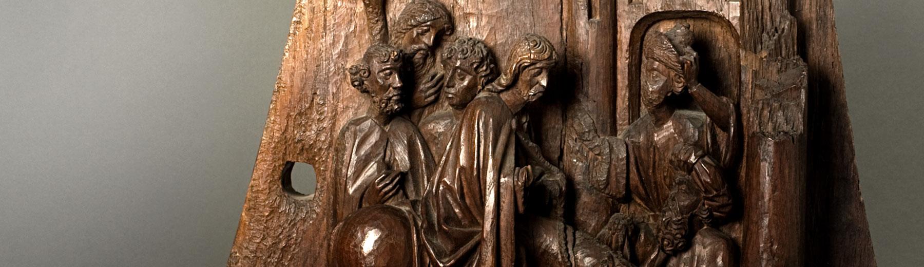Willem Ards, The entry of Christ in Jerusalem, oak, Leuven, ca. 1448-49(copyright: M - Museum Leuven | photography: Paul Laes)