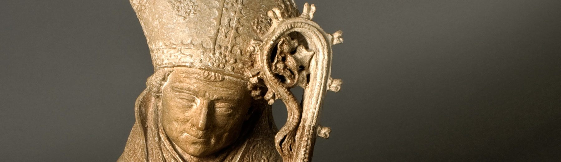 Holy bishop, avesnes stone, Brabant, ca. 1500 (copyright: M - Museum Leuven | photography: Paul Laes)