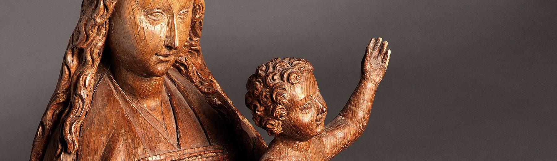 Virgin and child, oak, Leuven (?), ca. 1480(copyright: M - Museum Leuven | photography: Paul Laes)