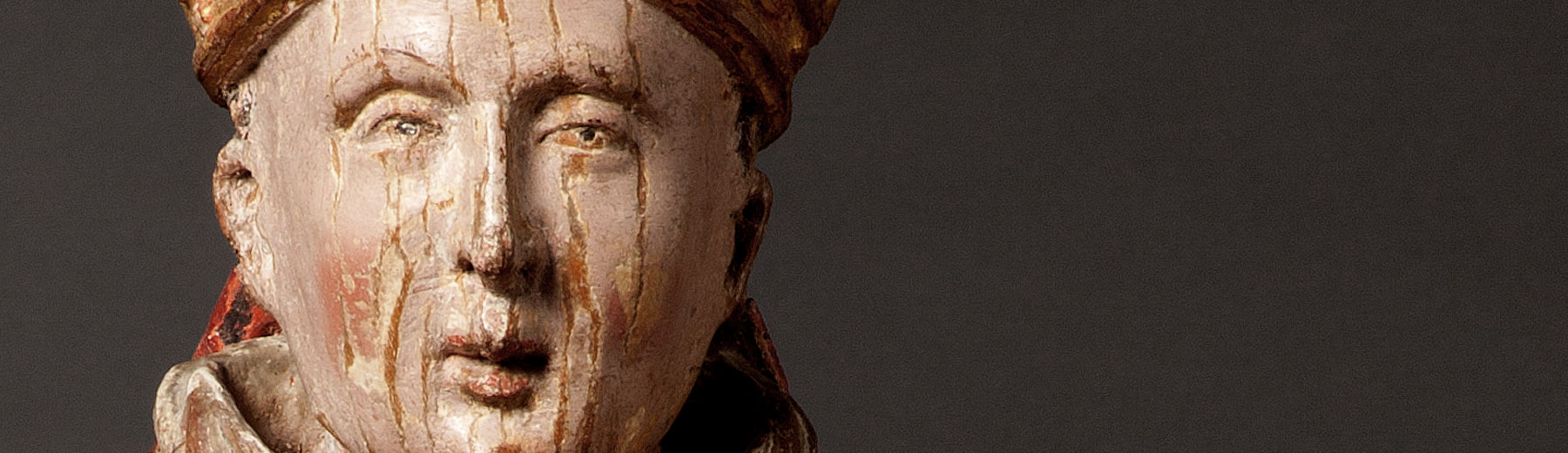 Holy Bishop, polychromed limewood, Brabant, 1st half of the 17th century(copyright: M - Museum Leuven | photography: Paul Laes)