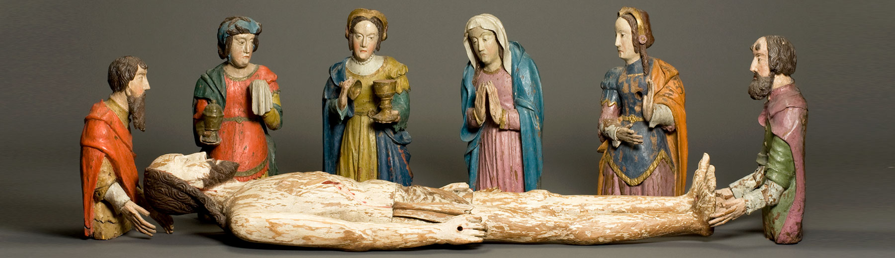 Christ in the tomb with six figures, polychromed oak,  Leuven (?),  1st quarter of the 16th century ( (copyright: M - Museum Leuven | photography: Paul Laes)